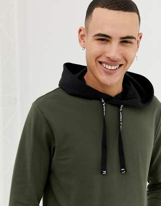 ONLY & SONS hoodie with contrast black hood