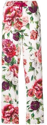 Dolce & Gabbana peony print track pants