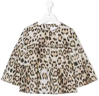 Roberto Cavalli Junior leopard print blouse