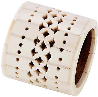Mela Artisans Chantilly Napkin Ring - Ivory
