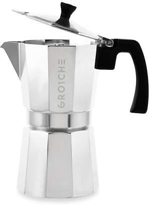 Grosche Milano Nine-Cup Stove Top Espresso Maker Silver