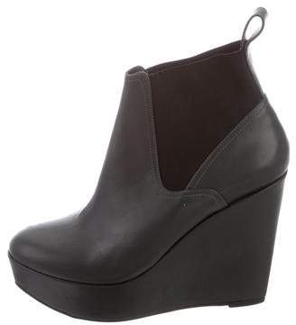 Robert Clergerie Clergerie Paris Round-Toe Wedge Ankle Boots