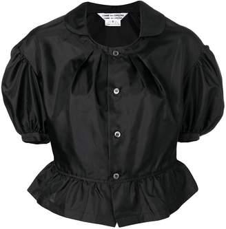 Comme des Garcons puffed button-down blouse