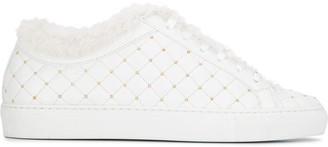 Le Silla embellished quilted sneakers