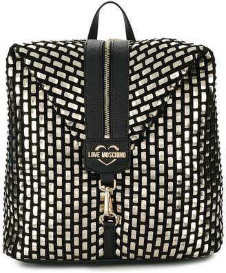 Love Moschino front zip backpack