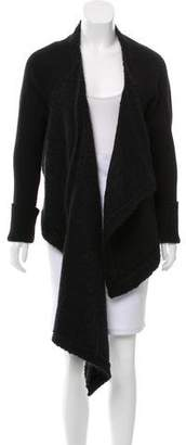 Givenchy Mohair-Blend Asymmetrical Cardigan
