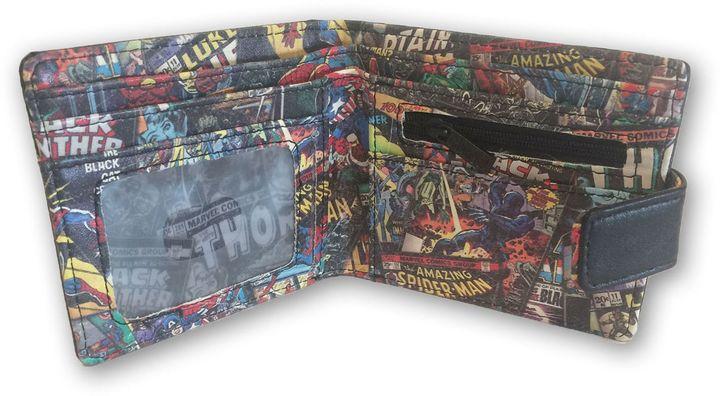 Marvel Comic Black Wallet with Inside Print