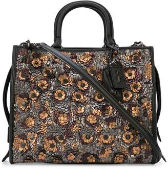 Coach sequin embellished Rogue tote