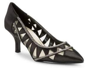 Caparros Fabulous Embellished Satin Heels