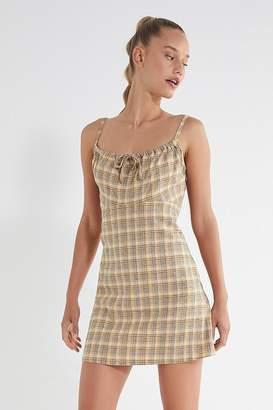 Urban Outfitters Ester Linen Tie-Front Mini Dress