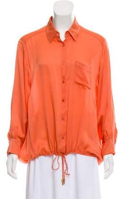 John Galliano Drawstring Silk Top