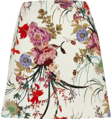 River Island River Island Womens Cream floral print mini skirt