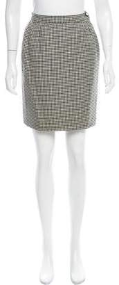 Valentino Houndstooth Mini Skirt