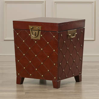 World Menagerie Hassania Nailhead Trunk End Table