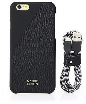 Native Union Embossed Leather iPhone 6-6S Case & Belt Cable Set