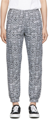Noon Goons Black and White Snakeskin Track Pants