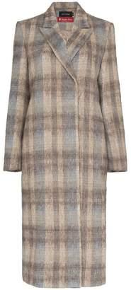 Low Classic check basic long wool blend coat