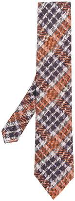 Etro check pattern tie