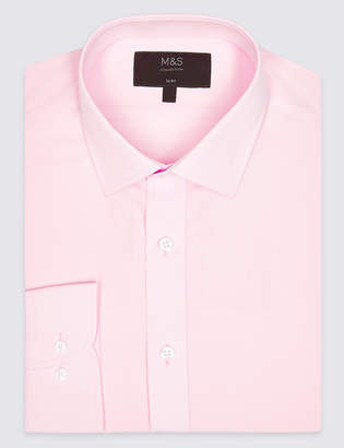 M&S CollectionMarks and Spencer Cotton Blend Slim Fit Shirt