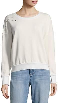 Splendid Women's Cropped Star Sweatshirt