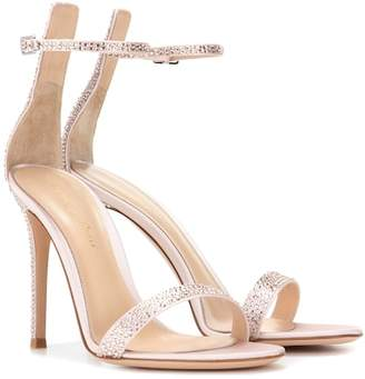 Gianvito Rossi Portofino embellished satin sandals