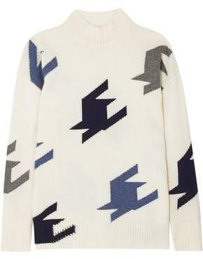 Victoria Beckham Intarsia Cashmere Sweater