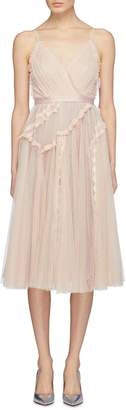 Needle & Thread 'Ballet Couture' ruffle lace trim tulle dress