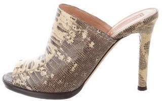 Reed Krakoff Embossed Slide Sandals