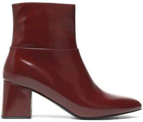 Jil Sander Navy Glossed-Leather Ankle Boots