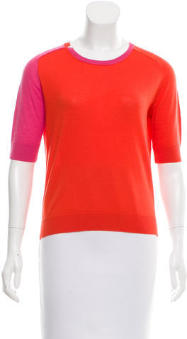 Carven Carven Wool Colorblock Top