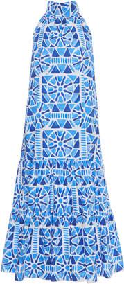 Stella Jean Cotton High Collar Dress