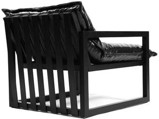REZA Maple & Black Leather Chair