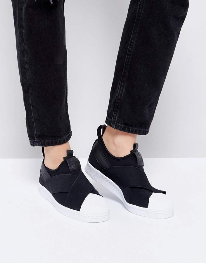– Superstar – Schwarze Sneaker zum Hineinschlüpfen