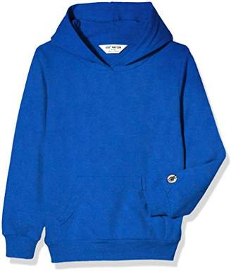 Kid Nation Kids' French Terry Oversized Solid Hoodie Sweatshirt for Boys Or Girls L
