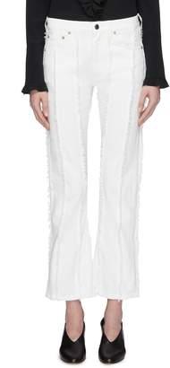 Sonia Rykiel Frayed stripe jeans