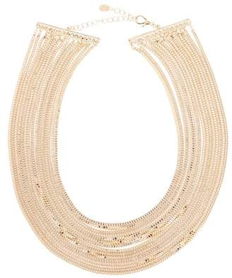 Sterling Forever Multi Row Chain Necklace