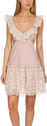 Zimmermann Meridian Stripe Frill Dress