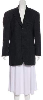 HUGO BOSS Virgin Wool Notch-Lapel Blazer