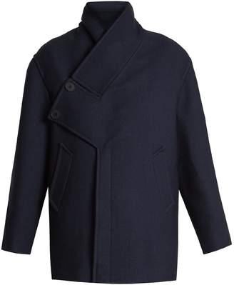 Stella McCartney Linda asymmetric-detail wool-blend coat