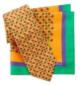 Etro Two-Piece Silk Tie & Pocket Square Box Set