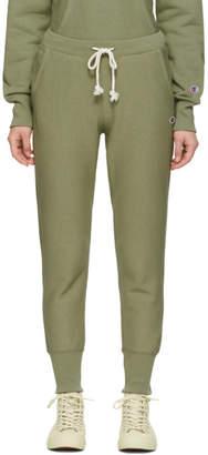 Champion Reverse Weave Green Rib Cuff Lounge Pants