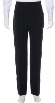 Lanvin Wool & Linen Tuxedo Pants