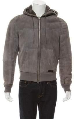 Burberry Hooded Lamb Shearling Jacket