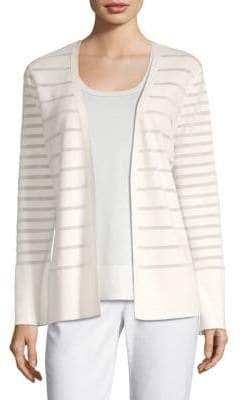 Lafayette 148 New York Mixed Stripe Cardigan