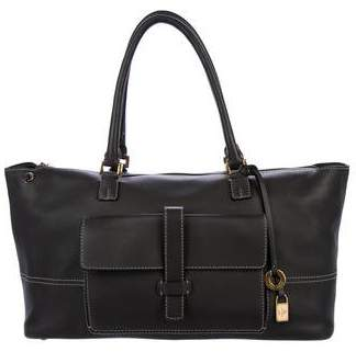 Loro Piana Medium Leather Satchel