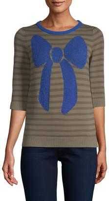 Manoush Women's Striped Bow Sweater