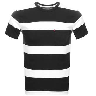 Levi's Levis Striped Sunset Pocket T Shirt Black