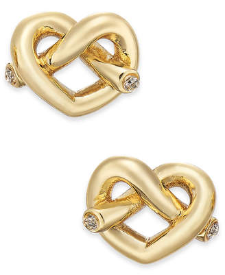 Kate Spade Crystal Accented Love Knot Stud Earrings