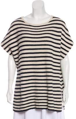 Tory Burch Striped Pattern Knit Top