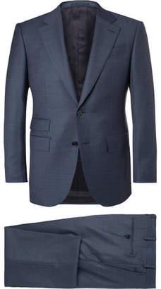 Ermenegildo Zegna Blue End-On-End Wool Suit $2,795 thestylecure.com